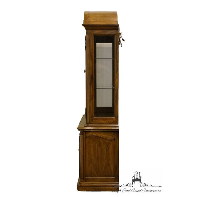 20th Century French Country American Drew Illuminated China Cabinet For Sale - Image 9 of 13