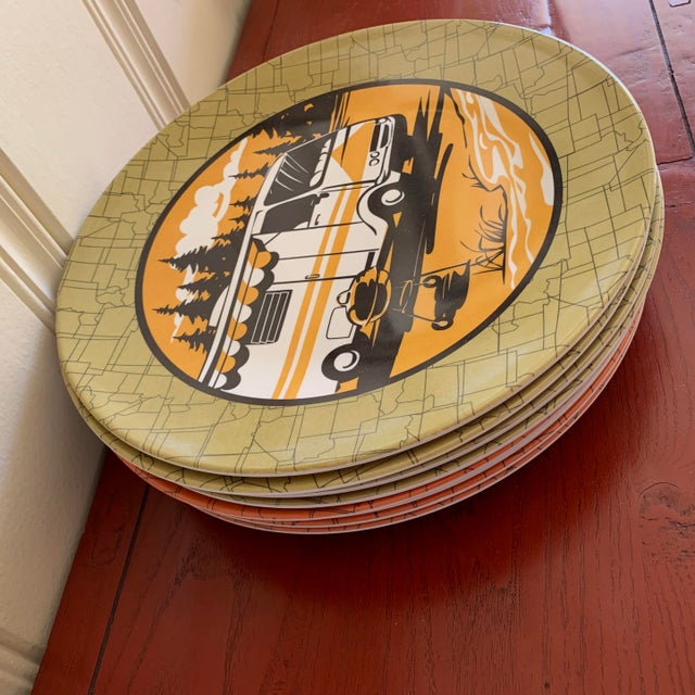 Camping Outdoor Dining Trailer Park Plates, Set of Eight For Sale - Image 4 of 12