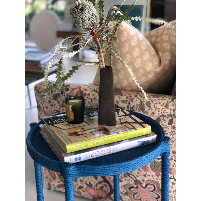 Contemporary Contemporary Prussian Blue Rope Side Table For Sale - Image 3 of 8
