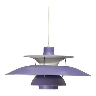 Louis Poulsen Ph5 Purple Pendant Lamp For Sale
