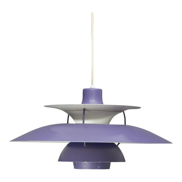 Louis Poulsen Ph5 Purple Pendant Lamp For Sale