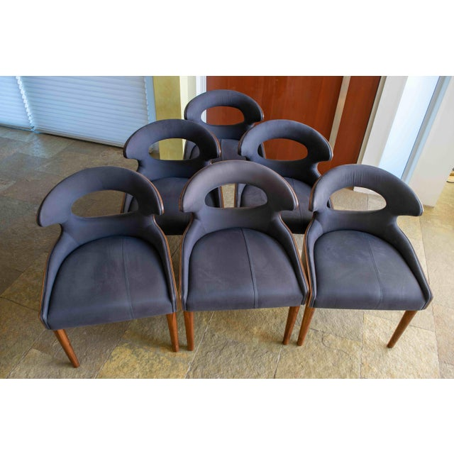 Canvas Tatiana Reclaimed Canvas Dining Chairs - Set of 6 For Sale - Image 7 of 7