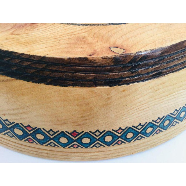 Massive Large Round African Primitive Hand Hewn Wood Dough Bowl For Sale In Los Angeles - Image 6 of 13