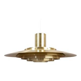 Huge Brass Pendant by Preben Fabricius & Jørgen Kastholm P700 For Sale