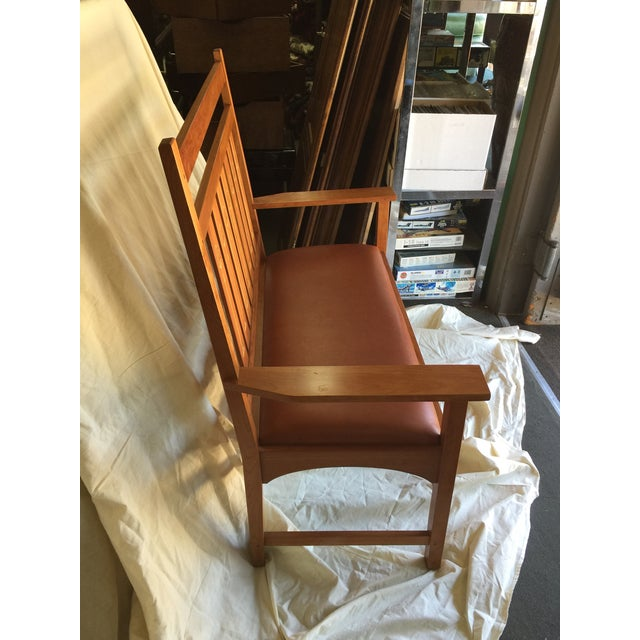 Harvey Ellis Stickley Bench in Cherry For Sale - Image 5 of 10