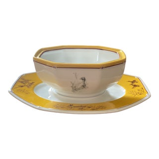 Hermes Chiens Courants and Chiens D'arret Serving Bowl For Sale