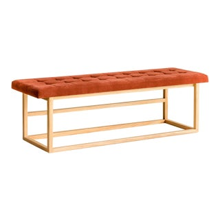 Ebb and Flow Tufted Bench For Sale