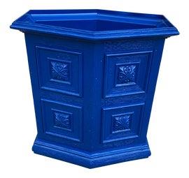 Image of Blue Wastebaskets and Trashcans