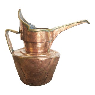 Antique Tibetan Copper and Brass Pitcher For Sale