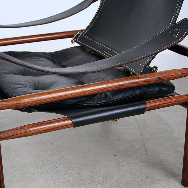 Arne Norell Vintage Arne Norell Swedish Rosewood Safari Chair For Sale    Image 4 Of 5