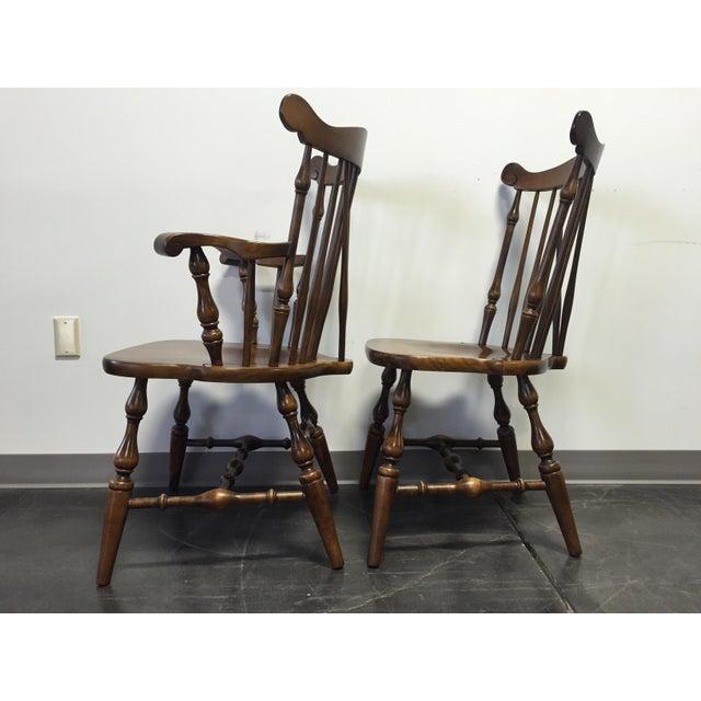 Temple Stuart Rockingham Windsor Dining Chairs -Set of 6 For Sale - Image 7 of 11