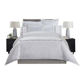 Saint-Tropez Embroidered Duvet Cover Queen - Anthracite/Greystone For Sale