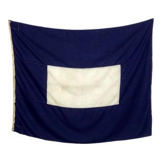 Large Vintage Nautical Signal Flag For Sale