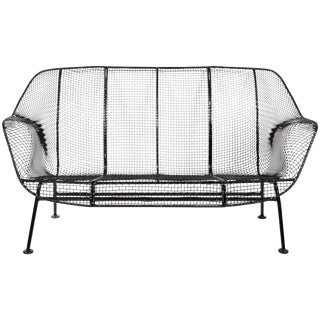 "1950's Russell Woodard Black ""Sculptura"" Settee For Sale"