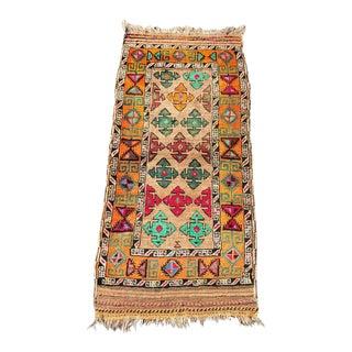 """Vintage Persian Ferdos Rug - 3'4""""x7'3"""""""