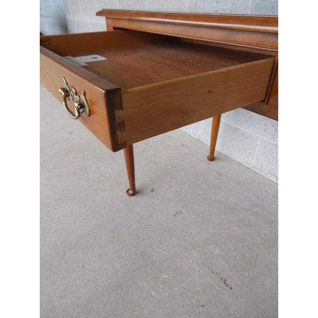 L & JG Stickley Cherry Valley 2 Drawer Writing Desk For Sale - Image 5 of 11