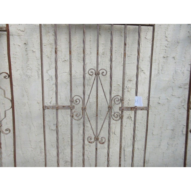 Antique Victorian Iron Gate Architectural Salvage - Image 5 of 7