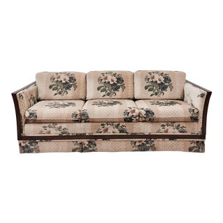 Vintage Cane Panel Sofa For Sale