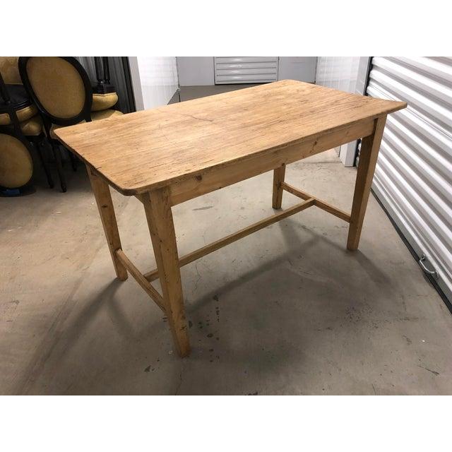1960s Rustic Light Wood Side Table For Sale In Denver - Image 6 of 6