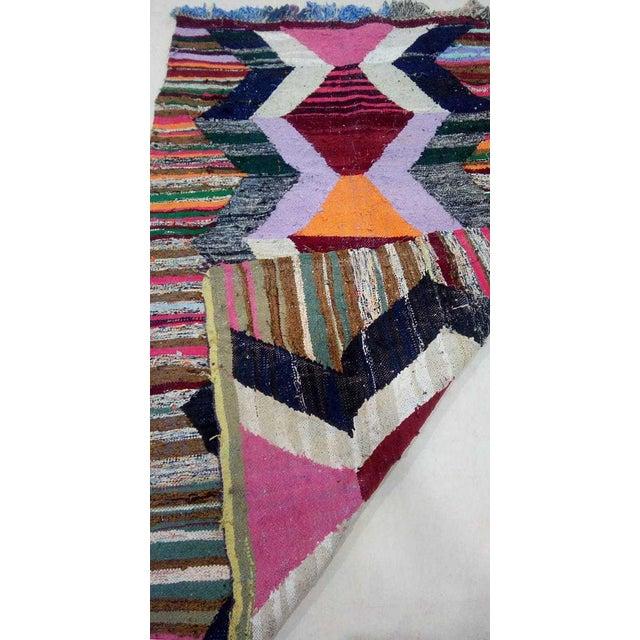 Textile 1920's Vintage Boho Chic Bauhaus Modern Runner - 7′1″ × 4′7″ For Sale - Image 7 of 10