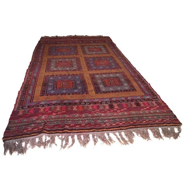 Hand-Knotted Wool Turkish Kilim - 5′8″ × 12′8″ - Image 1 of 5