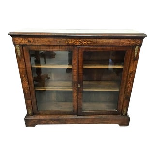 19th Century English Inlaid Bookcase For Sale