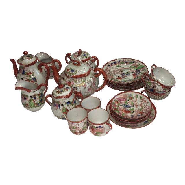Japanese Porcelain Tea Set - Set of 22 - Image 1 of 10