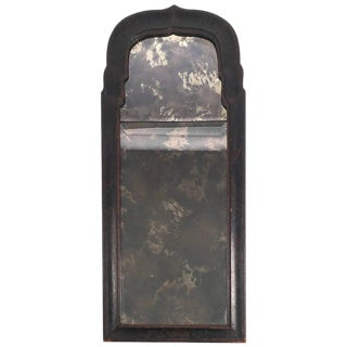 William and Mary Black Japanned or Lacquered Mirror For Sale