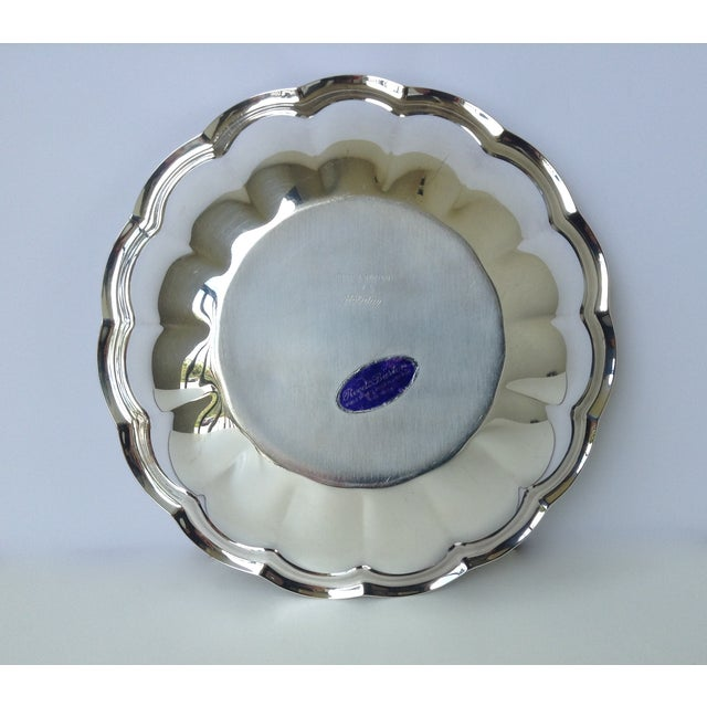 Reed & Barton Silverplated Fluted Bowl For Sale In West Palm - Image 6 of 7