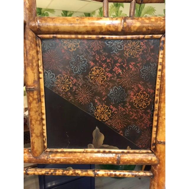 Rustic Bamboo Corner Shelf For Sale - Image 3 of 8