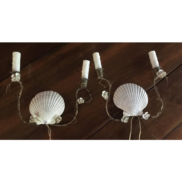 Shell Sconces - Pair - Image 2 of 8
