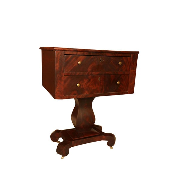 Mahogany American Empire Style Side Table For Sale - Image 7 of 11