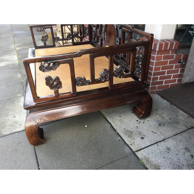 Antique Carved Opium Bed - Image 5 of 11