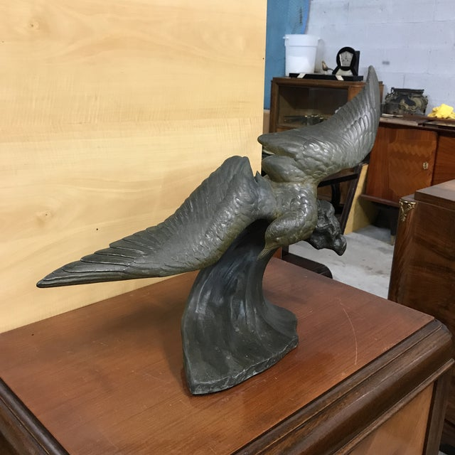 Exceptional Monumental French Art Deco Flying Birds Sculpture Bronze ...