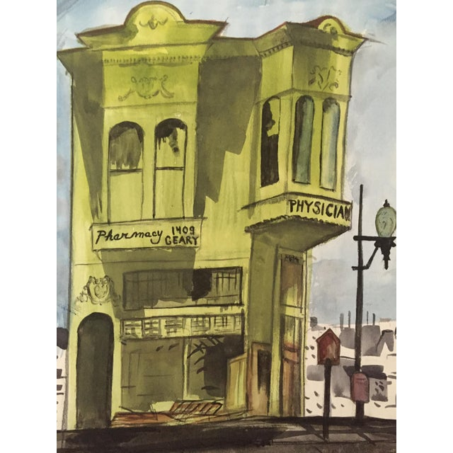 San Francisco Victorian House Watercolor Painting - Image 2 of 3
