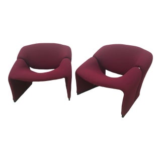 1960's Vintage Pierre Paulin Groovy Chairs-A Pair For Sale