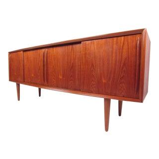 Vintage Modern Danish Teak Sideboard by h.p. Hansen For Sale