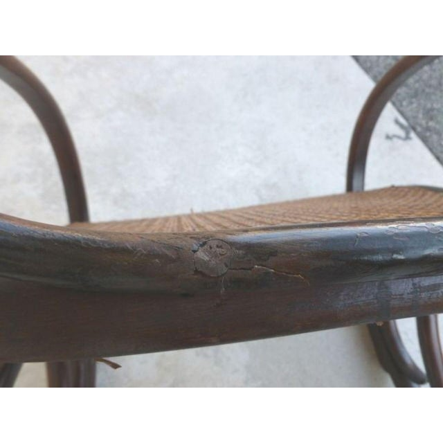 Late 19th Century Original Condition Signed Thonet Bentwood Rocker Circa 1896 For Sale - Image 5 of 11