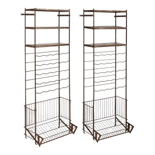 French Metal Wine Rack - Set of 2 For Sale