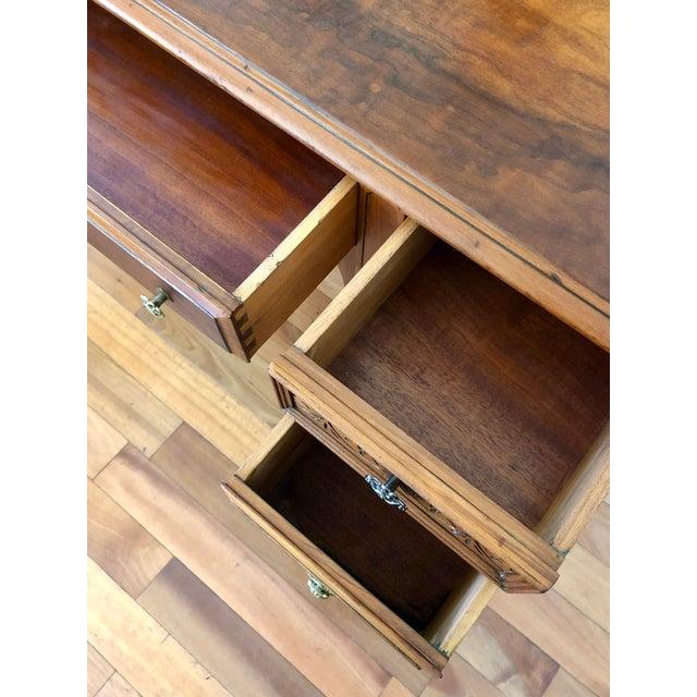1920's Antique Solid Wood Desk Vanity For Sale - Image 11 of 13