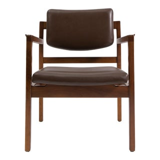 Set of 8 Beautifully Restored Solid Walnut Jens Risom Dining Chairs