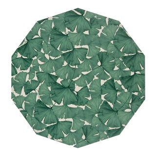 Ginko Placemat in Green on White For Sale