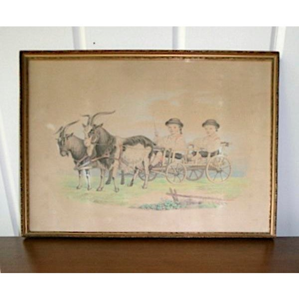 Boys in Goat Cart Victorian Handtinted Portrait For Sale In Richmond - Image 6 of 6