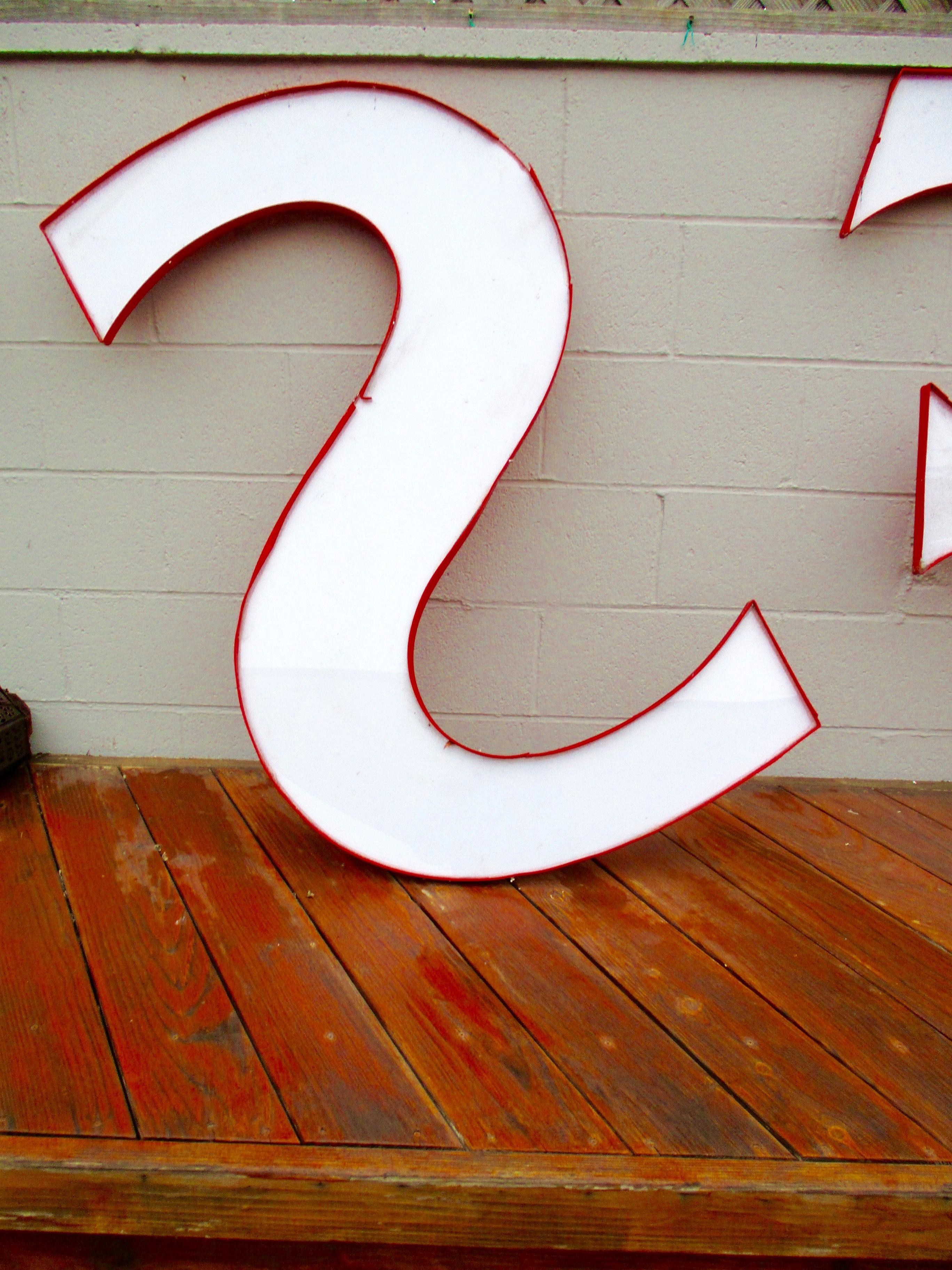 S F San Francisco California Pop Art Prop   S/2 Sign Letters   Image 9