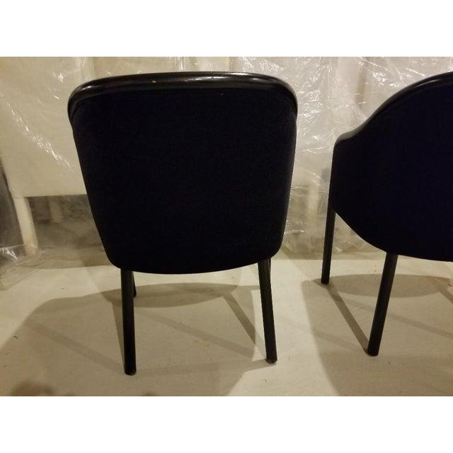 1980s Vintage Ward Bennett for Brickel Associates Walnut & Velvet Mohair Chairs - Set of 10 For Sale - Image 9 of 13