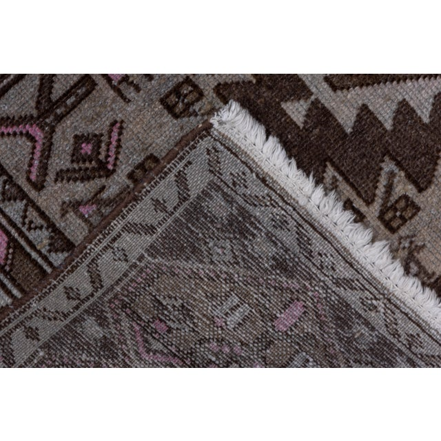 Textile 1940s Vintage Hamadan Rug- 4′4″ × 7′7″ For Sale - Image 7 of 8