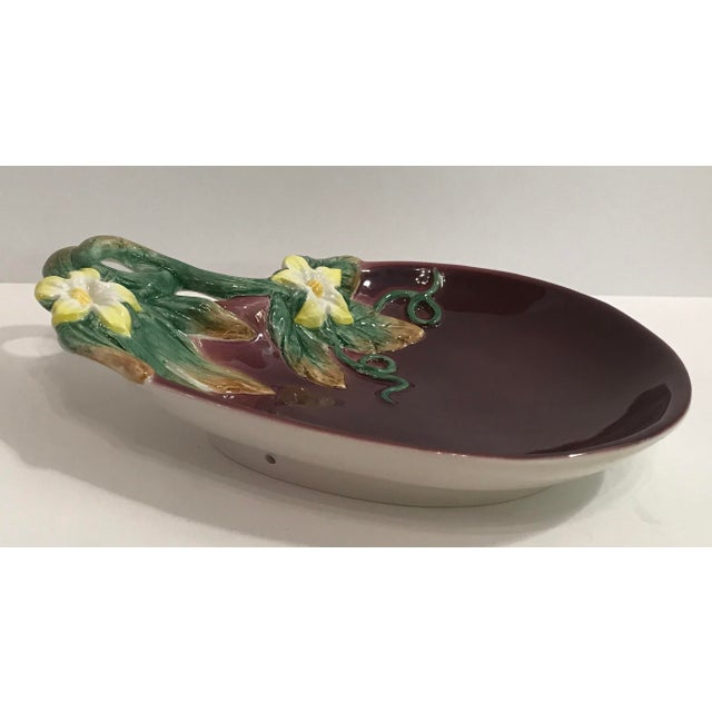 Vintage Fitz & Floyd Eggplant Dish For Sale In Dallas - Image 6 of 9