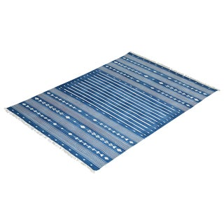 Aspen Rug, 8x10, Blue & White For Sale