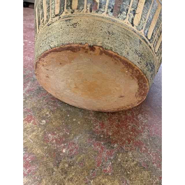 1980s 1980s Postmodern Egyptian Revival Large Pottery Floor Vase For Sale - Image 5 of 8
