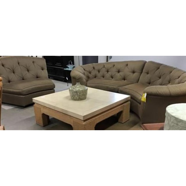 Brown Vincente Wolf Modern Crescent Sectional Sofa 3 Pcs For Sale - Image 8 of 11